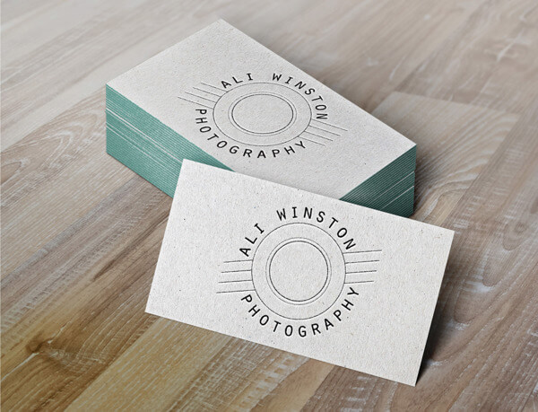 ali winston photography business cards