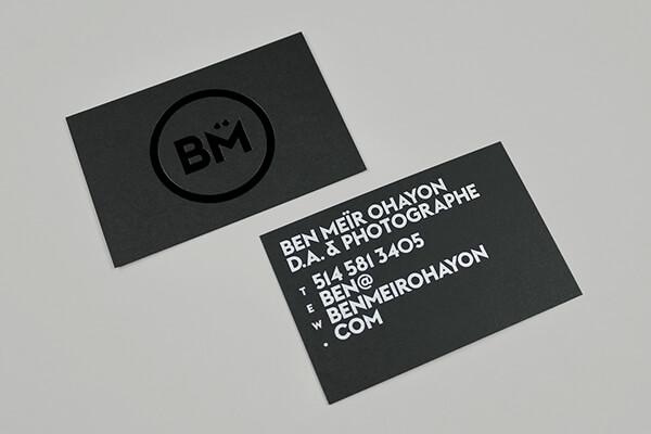 bm photographer business card
