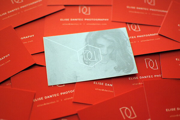 elise dantec photography business cards