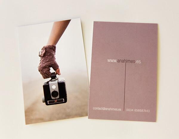 Ana Himes photographer business card