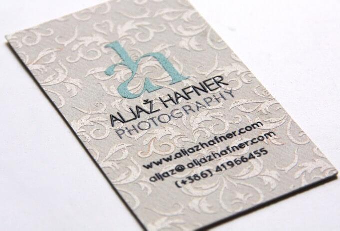 Aljaž Hafner Photography photography business card