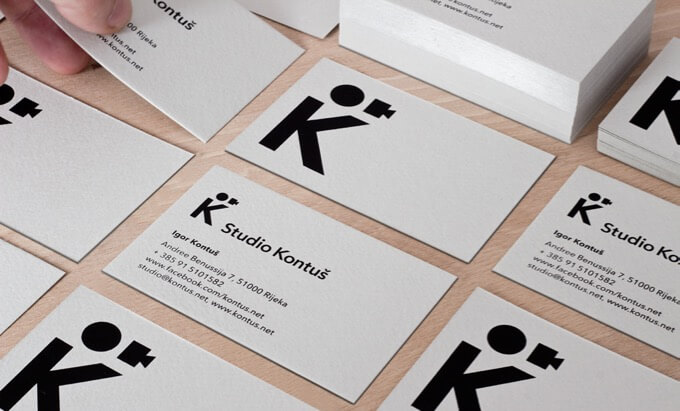 studio kontus photography business cards