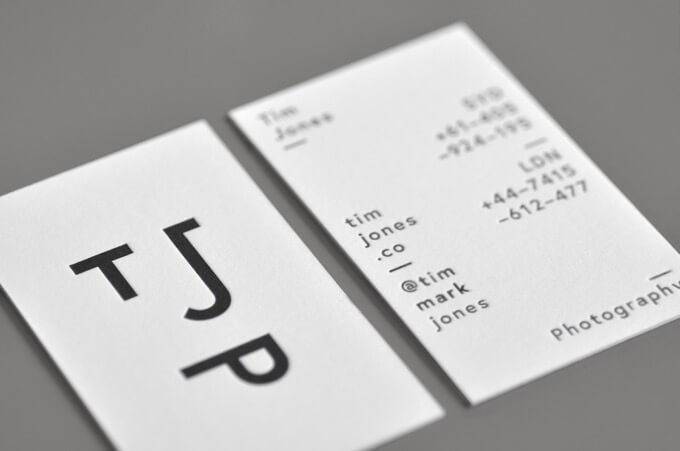 tim jones photographer business card