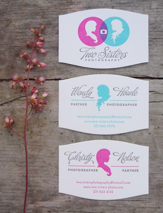 two sisters photography biz card