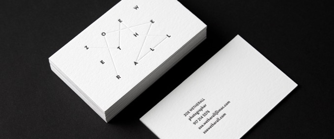 zoe wetherall photography business card
