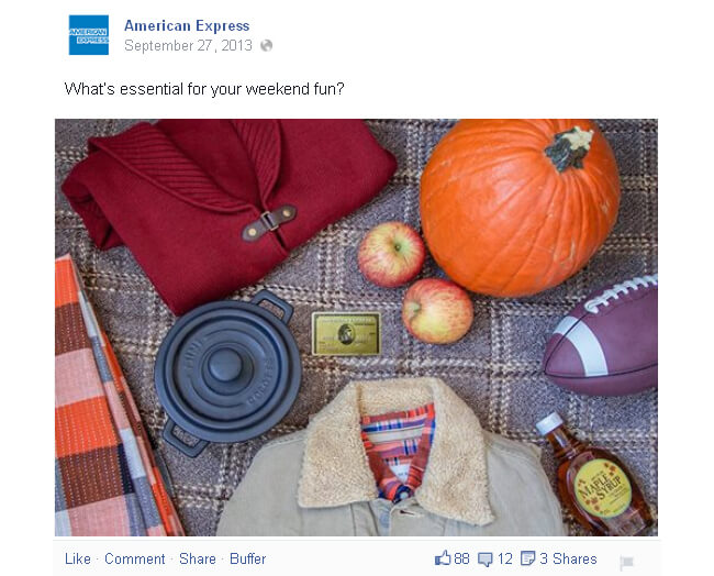 American Express Facebook post