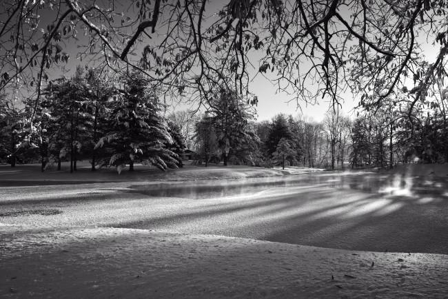 Frozen Farm Pond