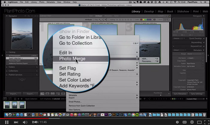 HDR and Panorama Merge in Lightroom 6
