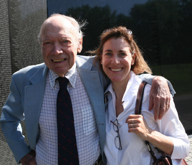 Catherine with her late father, the acclaimed journalist Stanley Karnow.