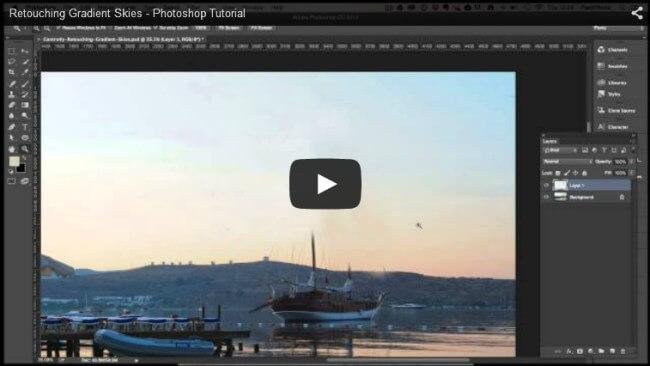 Retouching Gradient Skies in Photoshop