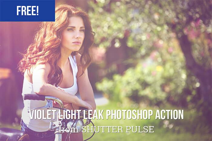 Violet Light Leak Photoshop Action
