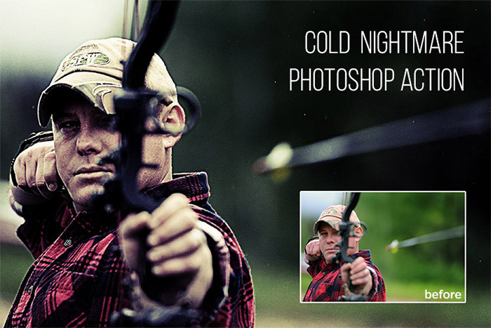 Cold Nightmare Photoshop Action