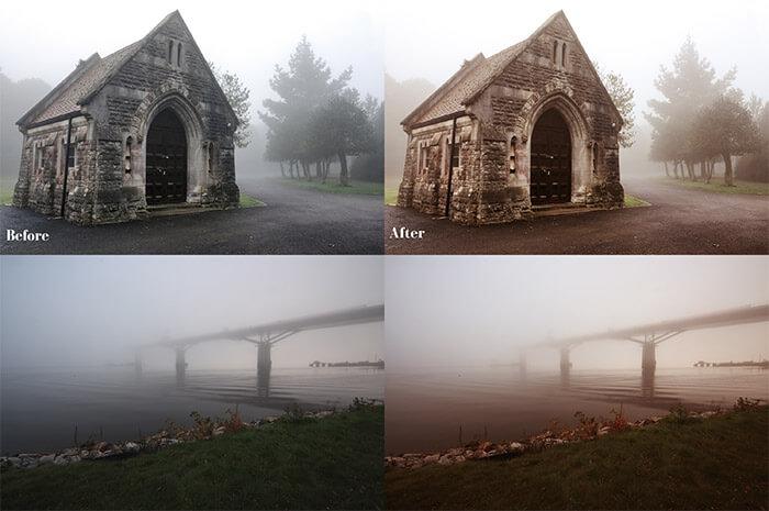 Warm Foggy Scenes