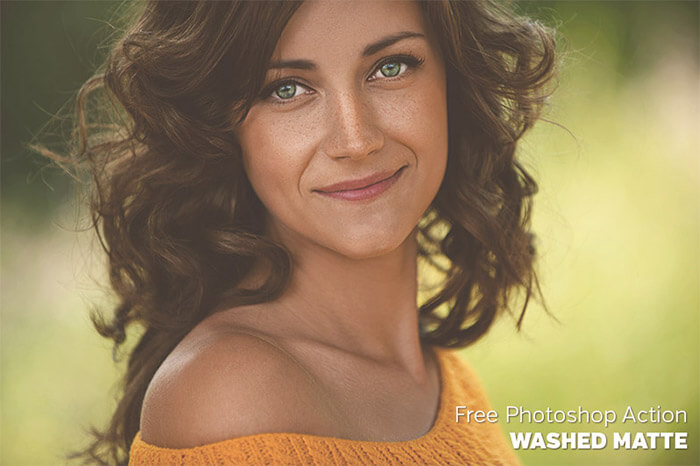 Washed Matte Photoshop Action