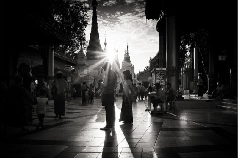 Myanmar - .caught in a sunburst.