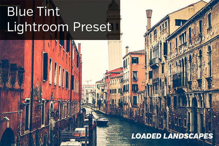 Blue Tint Lightroom Preset