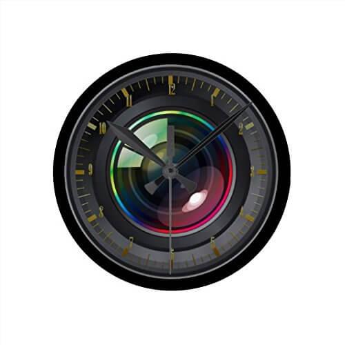 camera lens clock