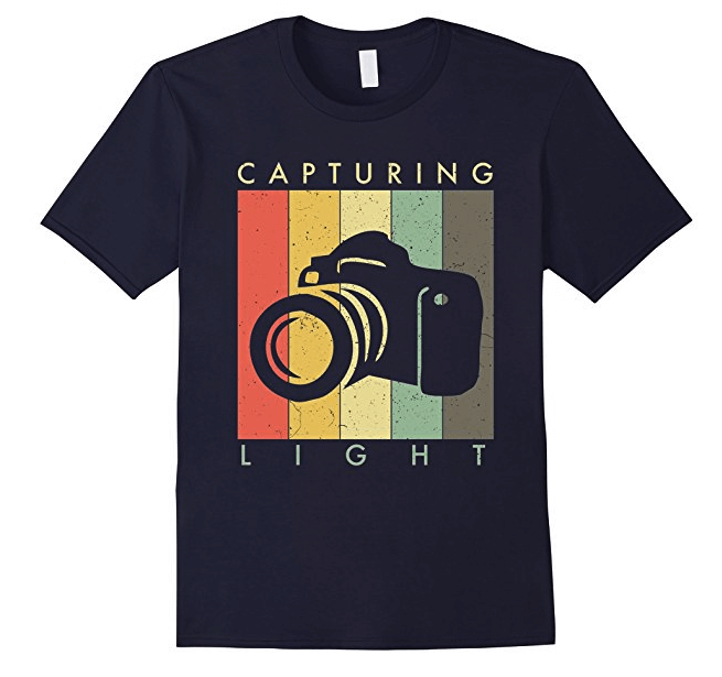 capturing light photographer shirt