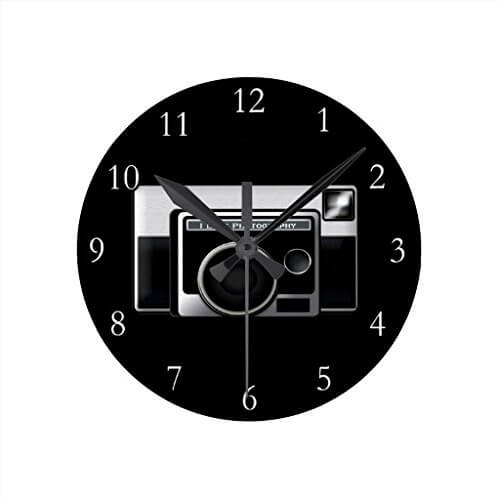 retro film camera clock