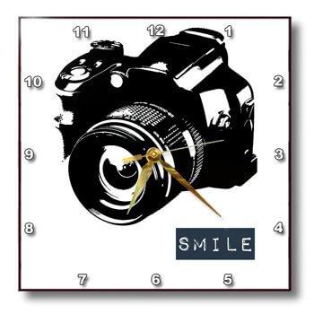smile camera clock