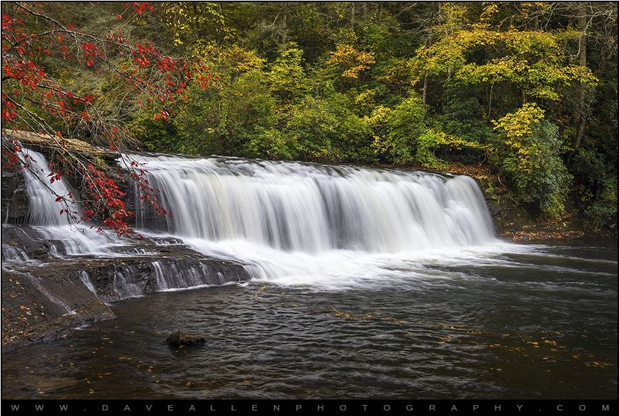 Dave Allen Photography - Hooker Falls in Autumn - Dupont State Forest NC