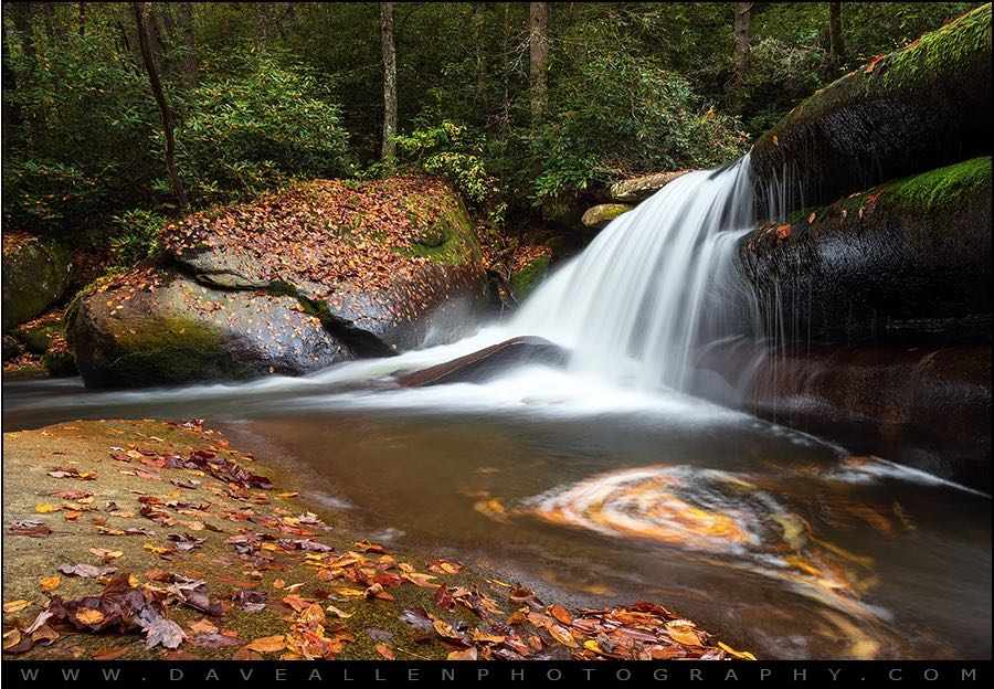 Dave Allen Photography - North Carolina Blue Ridge Waterfall - Stillness and Movement