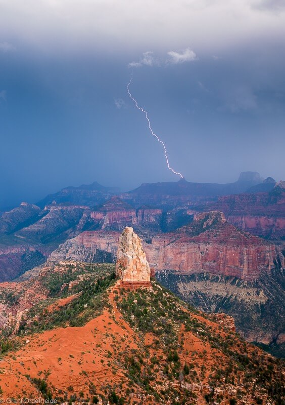 Point Imperial Lightning Grand Canyon