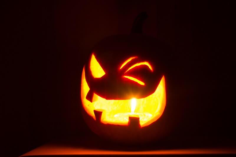 Tim Evanson - winking Halloween pumpkin