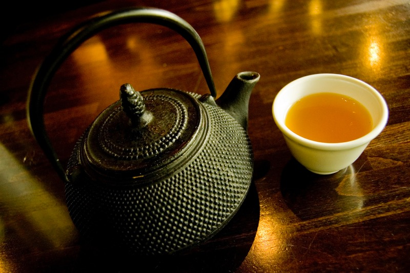 mendhak - This green tea is orange