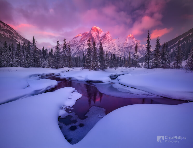 Chip Phillips - Mount Kidd Reflecting Pools Winter