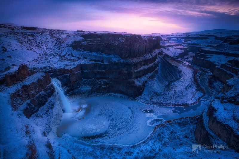 Chip Phillips - Palouse Falls, Frozen