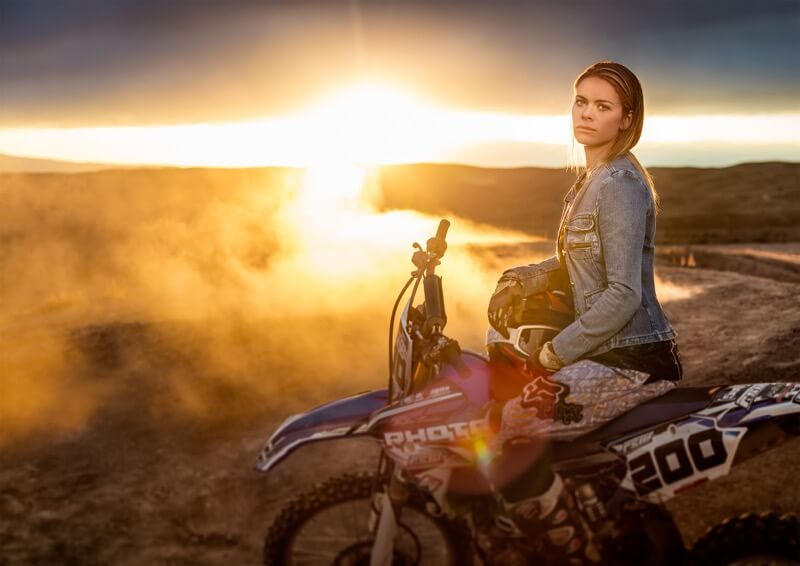 Sunset dirt bike - Tyler Stableford