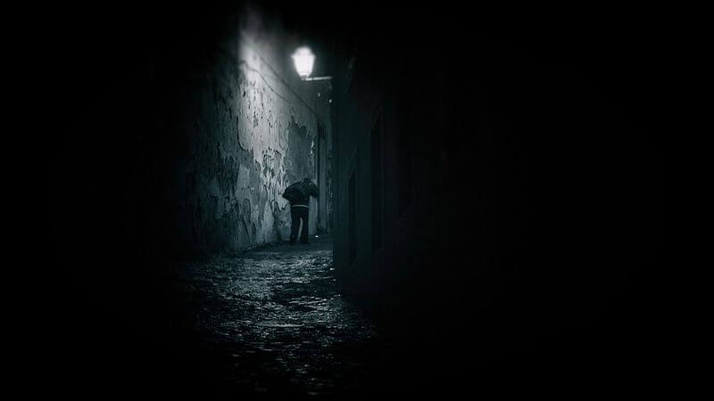 Man Walking at Night