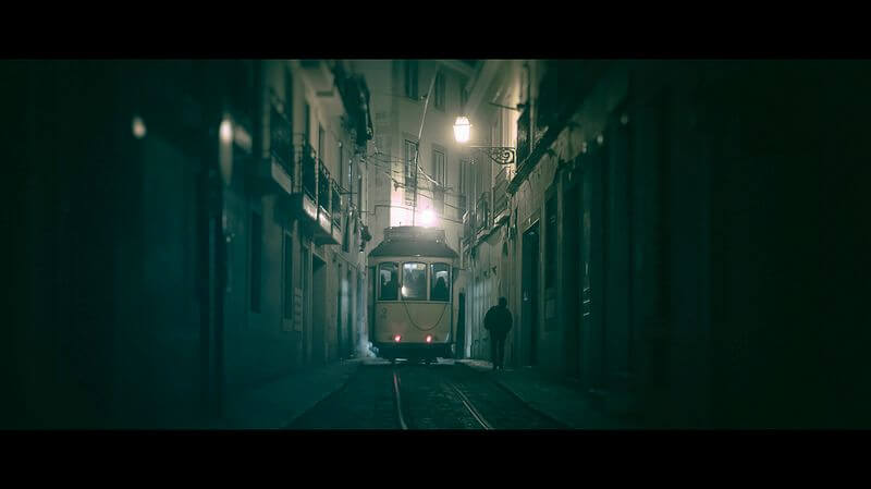 Tram at Night