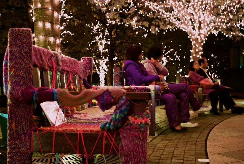 Christmas decorations outside Tokyo