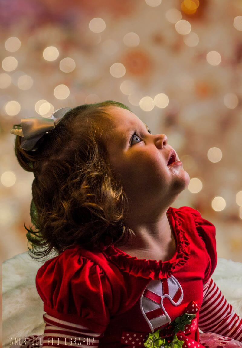 Christmas portrait of a young girl