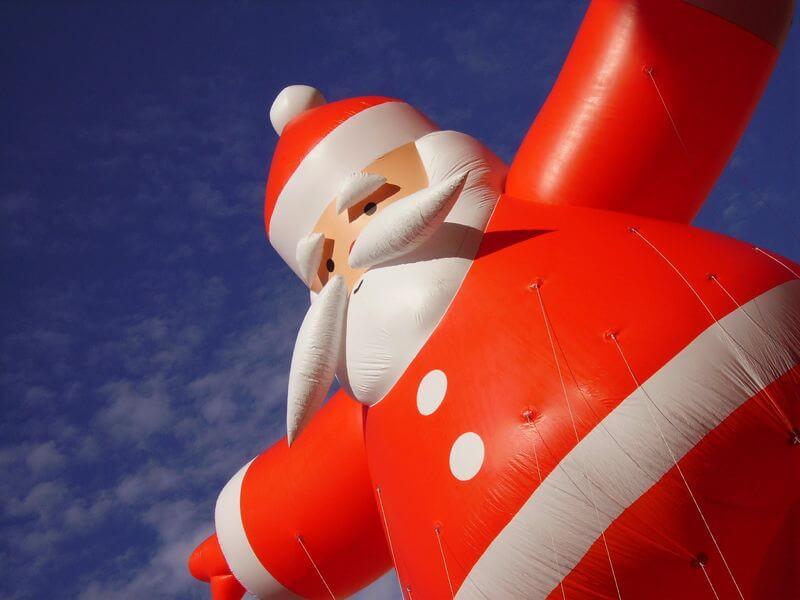 blow up santa