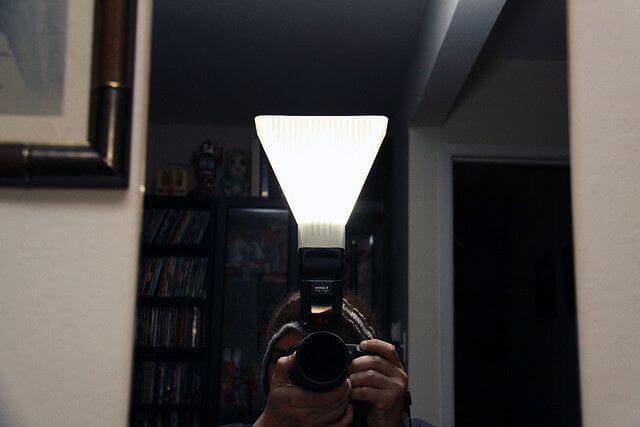 DIY open-top flash diffuser