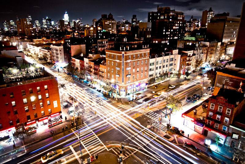 cityscape New York at night