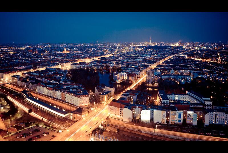 cityscape Berlin at night