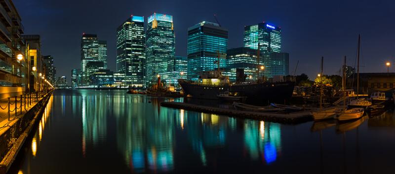 cityscape London at night