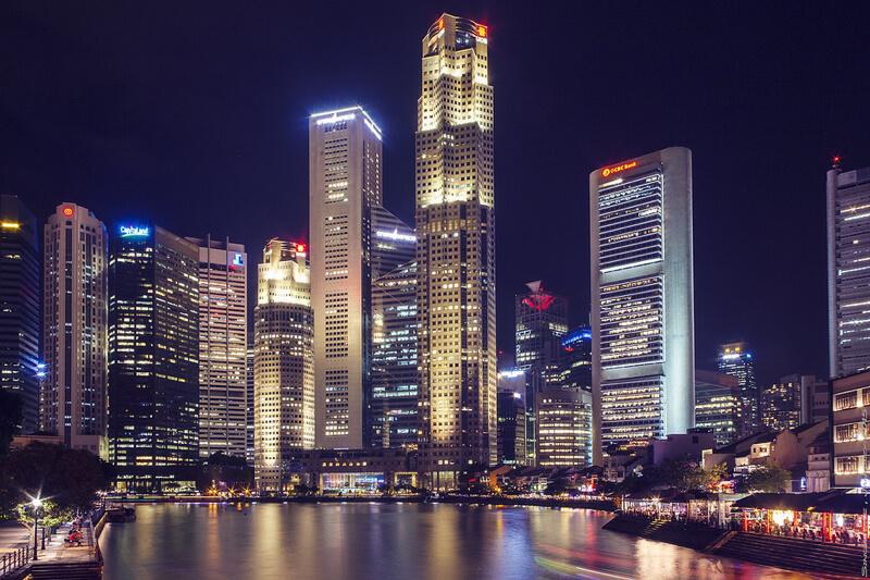 cityscape Singapore at night