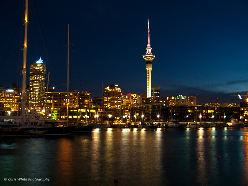 cityscape Auckland at night