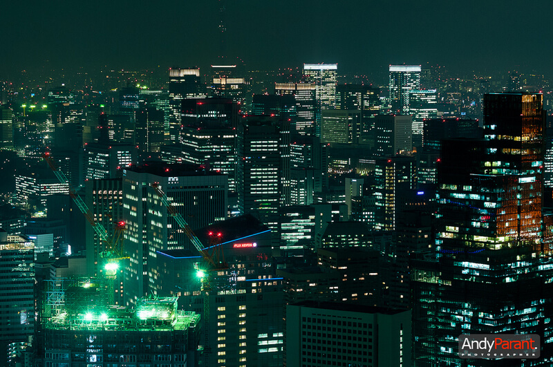 cityscape Tokyo at night