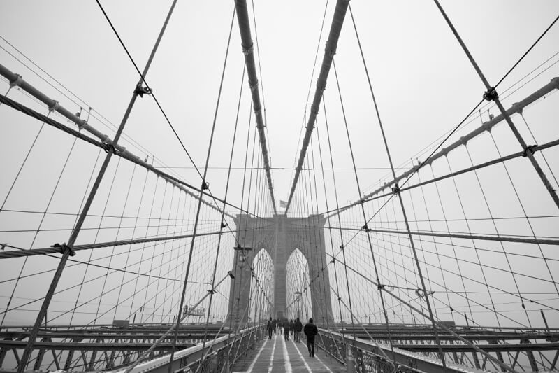 Brooklyn Bridge New York in Black and White