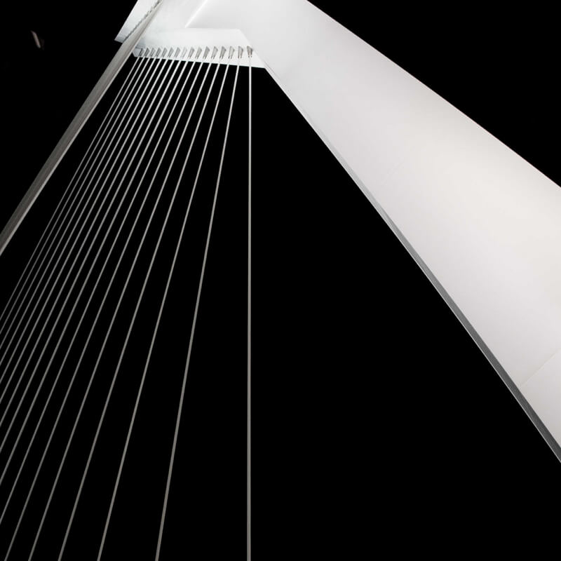 Erasmus Bridge Rotterdam close-up on detail