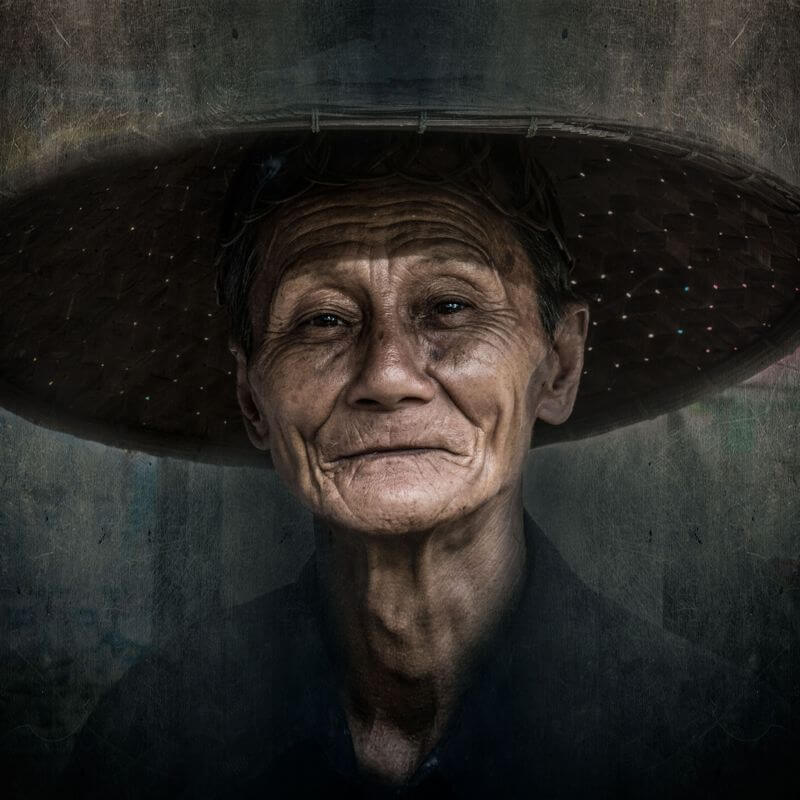 portrait with wild hat