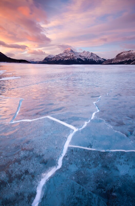 Abraham Lake Cracks - Grant Ordelheide