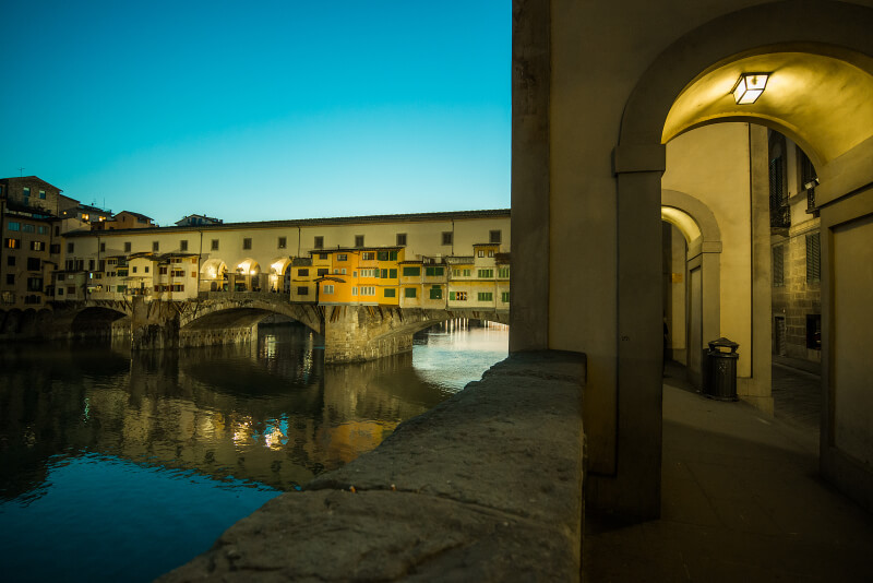 Ponte Vecchio, Florence in the evening