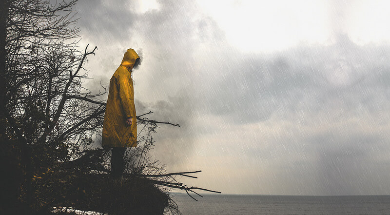Nate Bittinger storm yellow coat